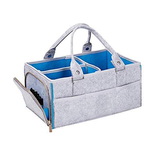 su-luoyu Baby Windel Caddy Organizer, tragbare Kinderzimmer Lagerplatz Multifunktionale Baby Tücher Filztasche, Faltbare Lagerplatz geeignet für Neugeborene Kinder Dusche Geschenk
