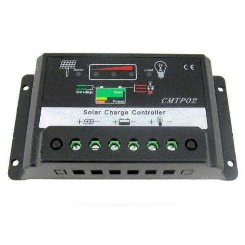 REFURBISHHOUSE Controlador de carga 15A PWM Solar Panel Regulador de la bateria...