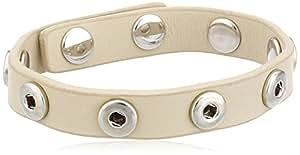 Pilgrim Damen-Armband für Snap's einfach aus der Serie Snap versilbert, weiss 21 cm 43122-9001