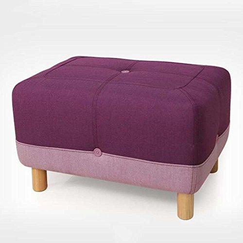 Moderne Bettrahmen (ZHANGRONG- Schuhhocker wechseln Modernes einfaches europäisches Massivholz Sofa Hocker Tuch tragen Schuhe geheimnisvolle Stuhl Bettrahmen (Farbe optional) --Sofa Hocker ( Farbe : 2 ))