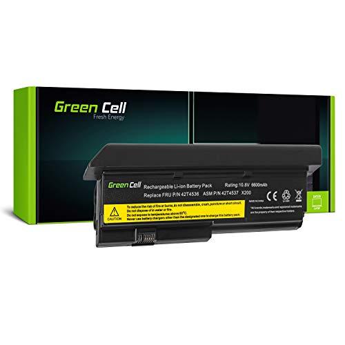 Green Cell Extended Serie 42T4650 Laptop Akku für Lenovo ThinkPad X200 X200s X201 X201i X201s (9 Zellen 6600mAh 10.8V Schwarz) (Akku, X201 Lenovo)