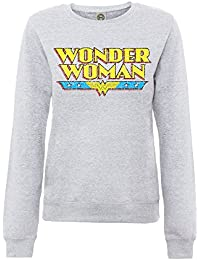 DC Comics Boys Official Wonder Woman Logo Crackle Girls Kids Sweatshirt