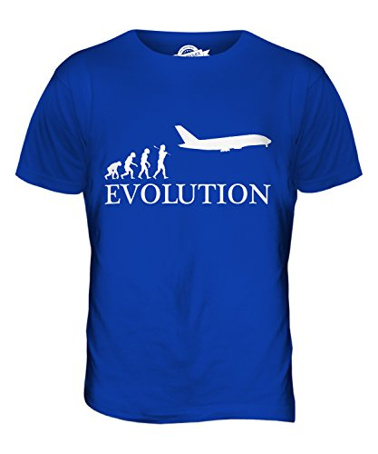 CandyMix Flugzeug Evolution Des Menschen Herren T Shirt Königsblau