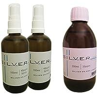 Kolloidales Silber 2x 100ml | 10ppm Sprühflasche + 250ml | 25ppm Flasche pur SET preisvergleich bei billige-tabletten.eu