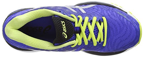 Asics Gel-Nimbus 18, Chaussures de Running Compétition Femme Violet (Blue Purple/Silver/Sunny Lime)