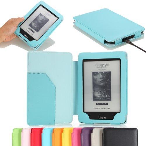 MoKo Kindle Paperwhite - Funda PU cuero para libro electrónico Kindle, 6', Negro
