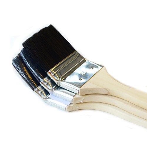 ROTIX-98043 3 X Heizkörperpinsel Ecken-Pinsel 70 mm | 3 Zoll | schwarze Mischborste