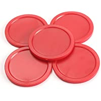 SaySure - 5Pcs Red 2-inch Mini Air Hockey Table Pucks 50mm Puck Children