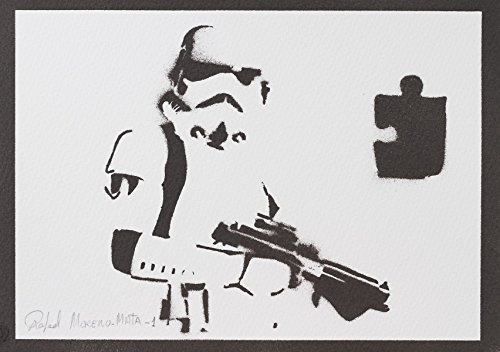 moreno-mata Stormtrooper Star Wars Handmade Street Art - -