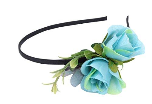 Jessidress Luxus Ibiza Stirnbänder Haarband Haarblumen Haar Blumen Tiara Turquoise