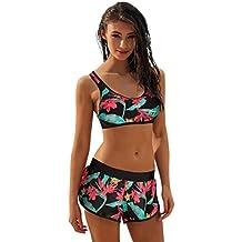 684bdc12e Yesmile Ropa de Baño Mujer Bikini Deportivo Traje de Baño para Damas  Babydoll Bañadores Causal Chaleco