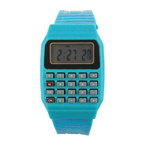 Cebbay Reloj para niños Unisex de Silicona Multi-Propósito Fecha Hora Calculadora de Pulsera electrónica...