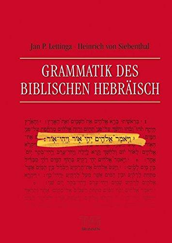 Grammatik des Biblischen Hebräisch von Benjamin Lange