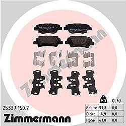 ZIMMERMANN 25337.160.2Serie Bremsbeläge, vorne, 2Sensoren Akustische, inklusive Platte dämpfend, inklusive Zubehör