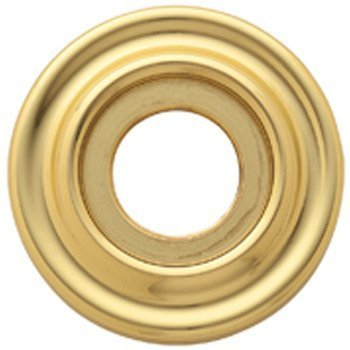 Estate Rosetten (Baldwin 5002 Pair of Estate Rosettes for Passage Functions, Lifetime Polished Brass by Baldwin)