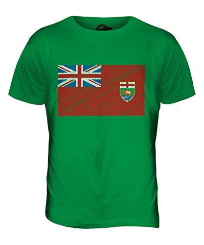 CandyMix Manitoba Kritzelte Flagge Herren T Shirt Grün