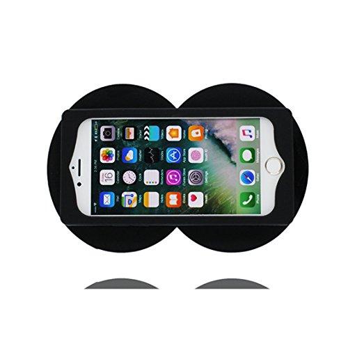 iPhone 7 Custodia, TPU Cartoon Case Cover Shell Progettato per iPhone 7 Copertura (4.7 pollici) ( Cratoon 3D occhi ), prova antipolvere della prova di polvere ( Eyes ) evidente Nero 1