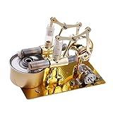 Homyl 2-Zylinder Stirlingmotor Stirling Motor Maschine Zubehör Bausatz, golden