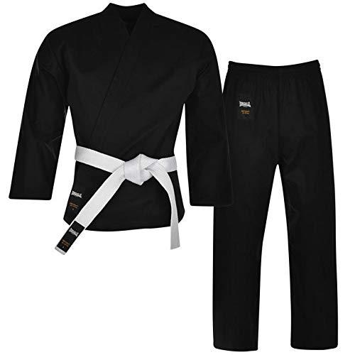 Lonsdale Herren Karate Anzug Uniform Kimono Schwarz 180