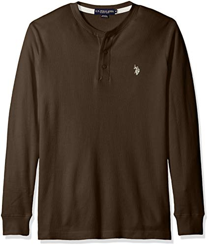 U.S. Polo Assn. Men's Long Sleeve Thermal Henley - L/s Thermal Henley