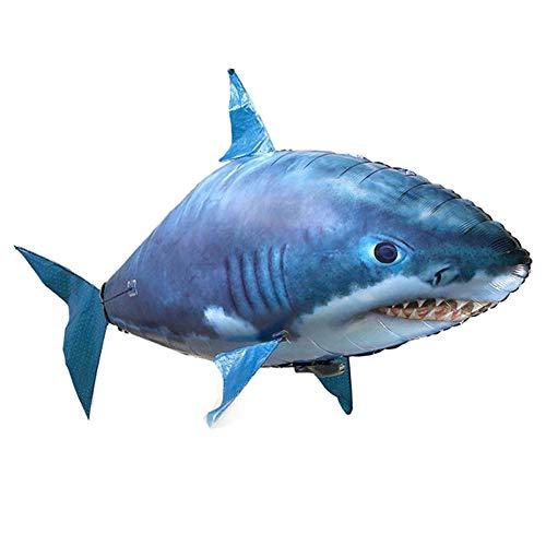 IIWOJ Fliegende Fisch Hai Fernbedienung Ballon Familie Aquarium Spielzeug für Kinder Helium Ballons Zuhause Dekoration