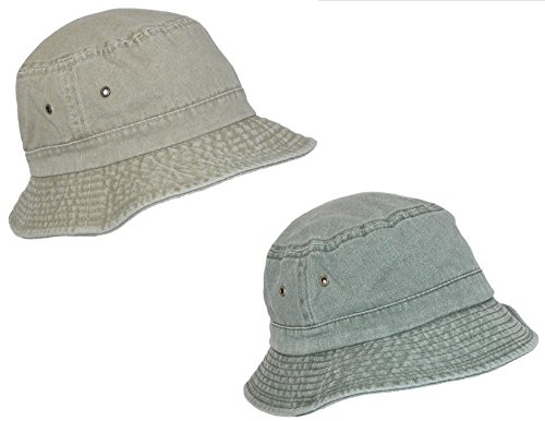 scala-classico-cotton-washed-sun-bucket-hat-pack-of-2-xxl-sand-green