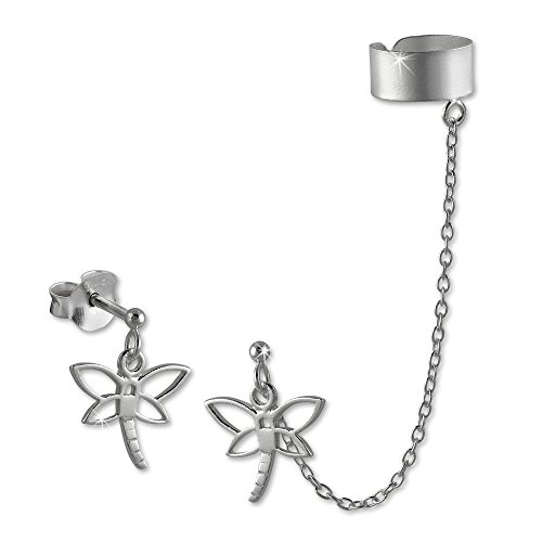 SilberDream Ohrschmuck Ohrringe - Ohrstecker Libelle mit einem Helix Ohr Clip Piercing 925er Sterling Silber SDO8870 (Sterling Silber Ohr Piercing)