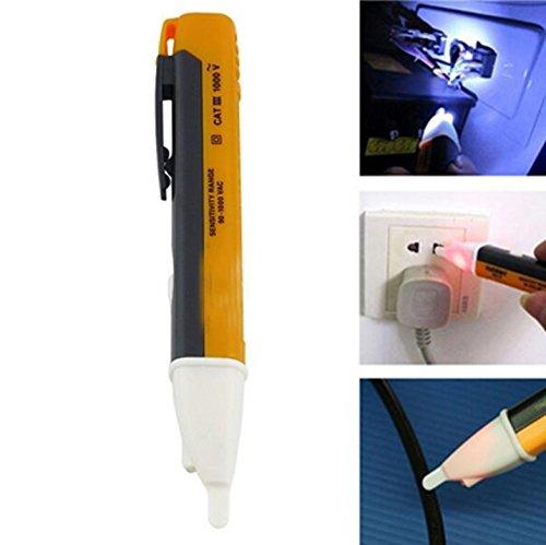 fomccu Berührungslose Spannung Alert Pen 90–1000V AC LED Light Pocket Detektor Tester
