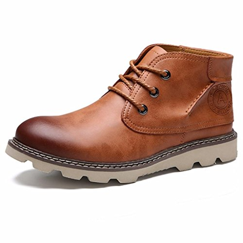 Moonwalker Men's Genuine Leather Chukka Ankle Boot (8 UK 42 EUR,Brown)