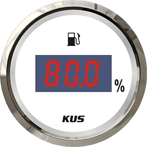 Preisvergleich Produktbild Kus Wasserdicht Digital Heizöl Level Gauge Meter Anzeige 0–190ohm mit Hintergrundbeleuchtung 12V/24V 52mm (5,1cm)