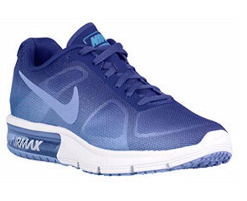 Nike Wmns Air Max Sequent, Scarpe da Corsa Donna Blu (Azul (Chlk Bl / Chlk Bl-Dp Nght-White))