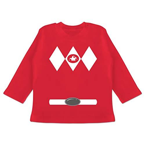 Karneval und Fasching Baby - Super Jeck Kostüm - 12-18 Monate - Rot - BZ11 - Baby T-Shirt ()