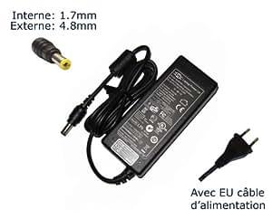 """AC Adaptateur secteur pourHP Pavilion zt3324 zt3325 zt3326 zt3327 zt3328chargeur ordinateur portable, adaptateur, alimentation """"Laptop Power (TM)"""" de marque (avec garantie 12 mois et câble d'alimentation européen)"""