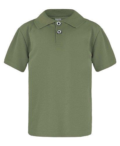 Kinder Einfach Pique Polohemd Jungen Mädchen Kurzärmeliges Top Freizeit T-shirt