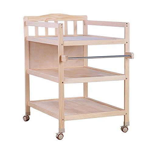 YFQ Hölzerne Baby-Wickeltisch-Änderungs-Tabelle Stehende Faltende Baby-Windel-Wickeltisch Und Ablagefach-entfernbare Baby-Wickeltisch-Massagestation -
