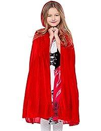 ARAUS Disfraz de Caperucita Roja para Niños Disfraz de Actuación en Escena para Niños Disfraces Vestido + Capa 2PC 3-9 años