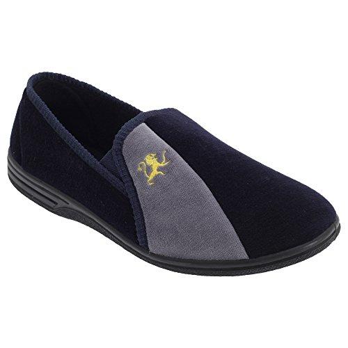 Zedzzz Aaron - Pantofole da Uomo Navy blu/Grigio