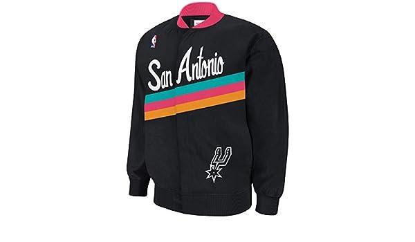 3b72dd4e7c5 Mitchell   Ness San Antonio Spurs NBA Authentic 94-95 Warmup Premium Jacket   Amazon.co.uk  Sports   Outdoors