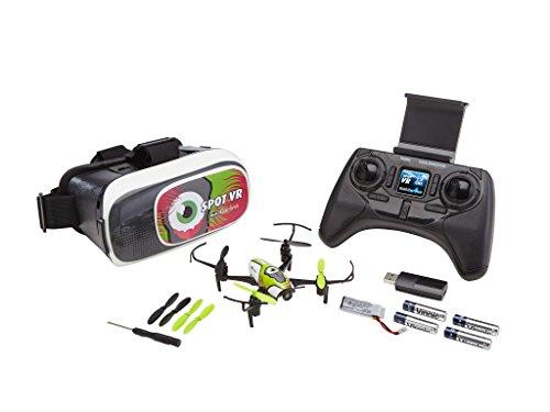 Revell Control 23872 – RC Vr Quadrocopter mit FPV Kamera und VR-Brille, Live-Übertragung über Wifi, Video-Stream aufs Eigene Smartphone, Ferngesteuert mit 2,4 GHz Fernsteuerung, Wechsel-Akku, Spot VR