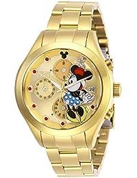 Invicta 27402 Disney Limited Edition Minnie Mouse Reloj para Mujer acero inoxidable Cuarzo Esfera oro
