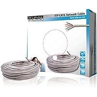 König CMP-FTP6R50S - Cable Ethernet de 50 metros, gris