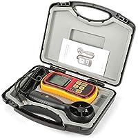 Medidor de Velocidad del Viento - GM8901 Anemómetro Digital LCD de Mano Medidor de Velocidad del Aire Medidor de Temperatura del Viento