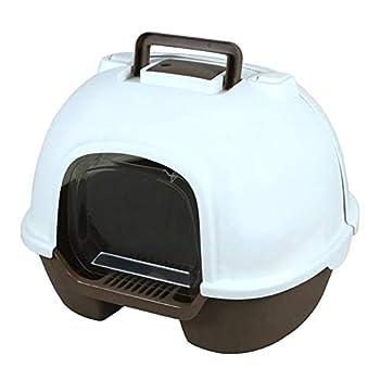 Flowing water Boîtes à litière entièrement fermées pour Chat, Toilette pour Chat Déodorant réutilisable Respirant Anti-éclaboussures Grande Toilette pour Animaux de Compagnie,Marron