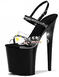 GaoXiao modèle de spectacle le défilé des chaussures de 18 centimètres de talon de chaussures chaussures,18 centimètres noir