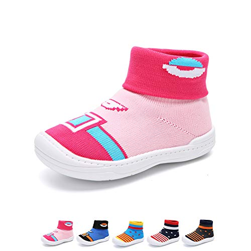 YUHUAWYH Baby Jungen Mädchen Warme Anti-Rutsch Schuhe Socken Kleinkind Erste Wanderer Schuhe Slipper Socken für Alter 0-6 Monate bis 4-5 Jahre -