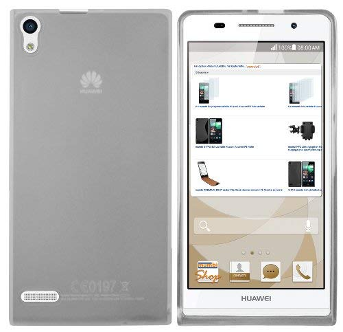 mumbi Schutzhülle für Huawei Ascend P6 Hülle transparent weiss