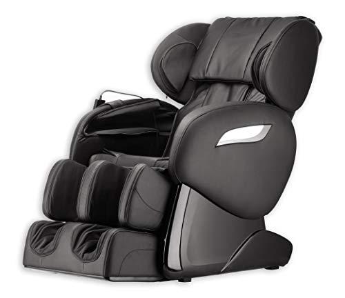 Luxus Massagesessel Shiatsu F2000 Leder schwarz mit Rollentechnik Massage + Heizung + Armmassage...
