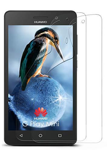 moex 2X Huawei G Play Mini | Schutzfolie Klar Bildschirm Schutz [Crystal-Clear] Screen Protector Display Handy-Folie Dünn Bildschirmschutz-Folie für Huawei G Play Mini/Honor 4c Bildschirmfolie