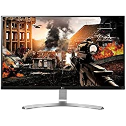 LG 27UD68-W mit 68,58 cm (27 Zoll) Computer-Monitor (HDMI, HDCP, DisplayPort, 5 ms Reaktionszeit, Ultra HD 4 K) Weiß
