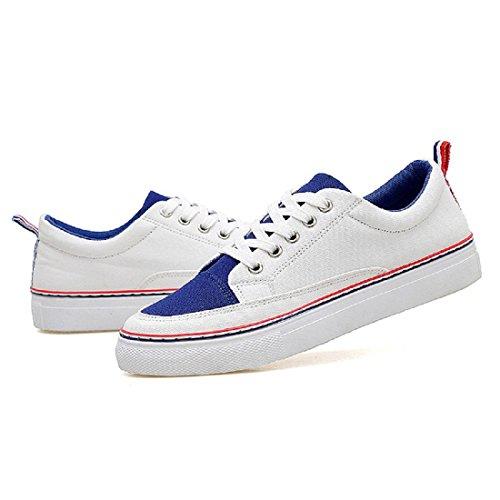 Moda Scarpe sportive traspirante Tempo libero Confortevole scarpe tooling scarpe basse Blue